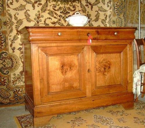 buffet charentais louis philippe en merisier et orme. Black Bedroom Furniture Sets. Home Design Ideas