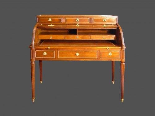 bureau cylindre louis xvi 1774. Black Bedroom Furniture Sets. Home Design Ideas