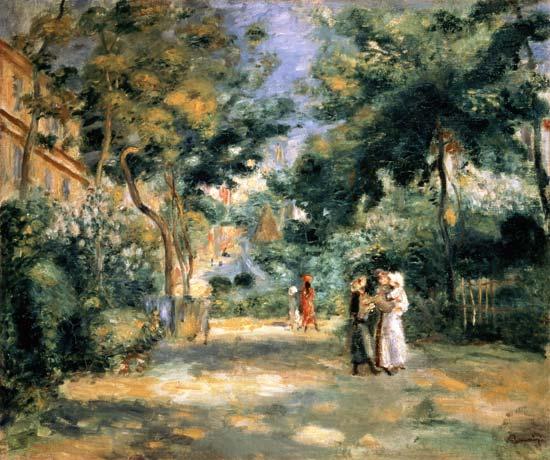 Les jardins de montmartre pierre auguste renoir - Les jardins de montmartre ...